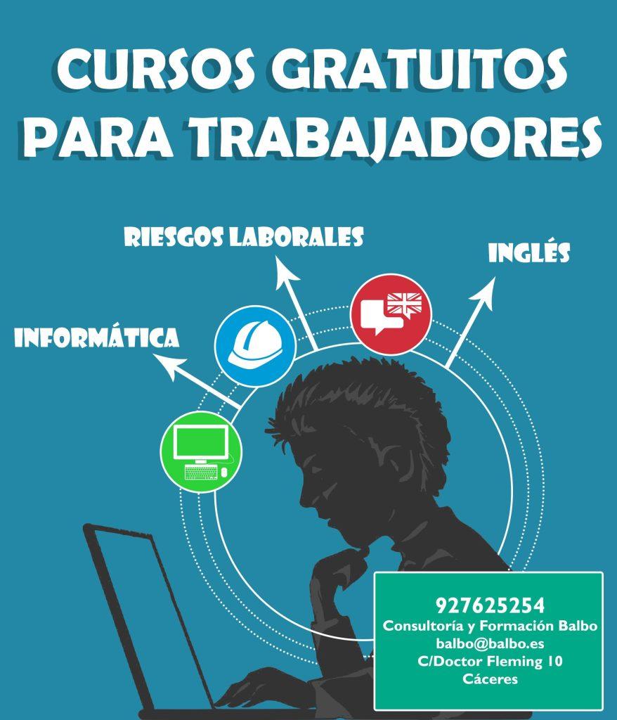Cursos gratuitos de inglés, informática y riesgos laborales