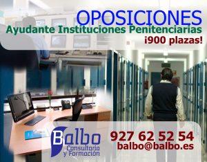 oposiciones instituciones penitenciarias balbo