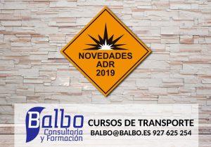 NOVEDADES ADR 2019 BALBO