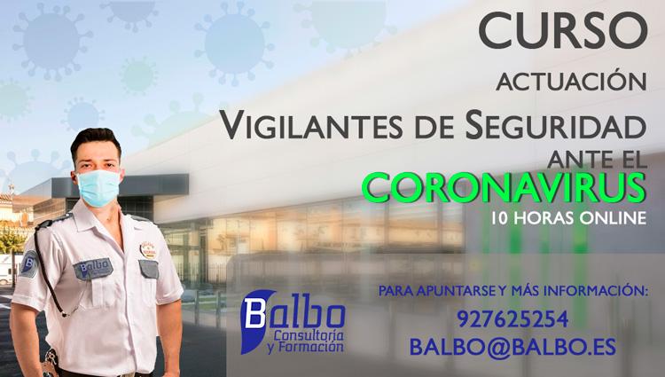 Curso Actuación ante el Coronavirus Vigilante de Seguridad