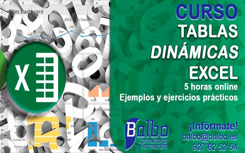 Curso Tablas dinámicas con Excel