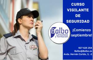 ÚLTIMAS PLAZAS CURSO VIGILANTE DE SEGURIDAD